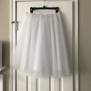 Dresses & Skirts - White Tea Length Tutu tulle skirt